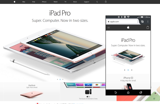 Apple Responsive Website