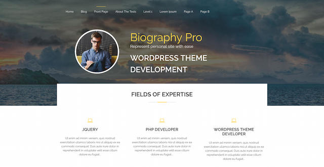 Biography WordPress Business Themes