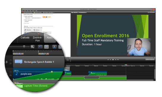 Camtasia for Video Content
