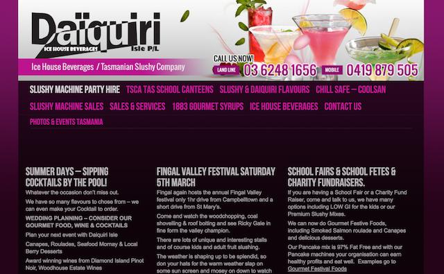 Daiquiri Isle Website
