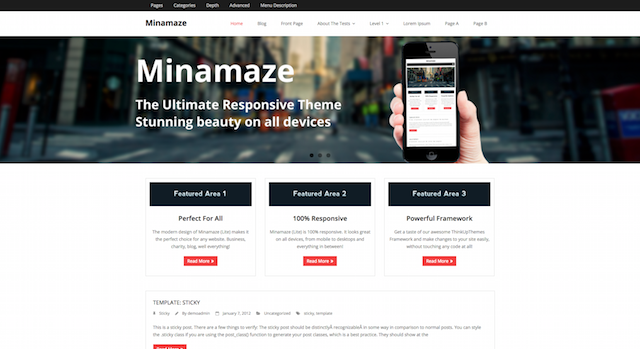 Minamaze WordPress Business Theme