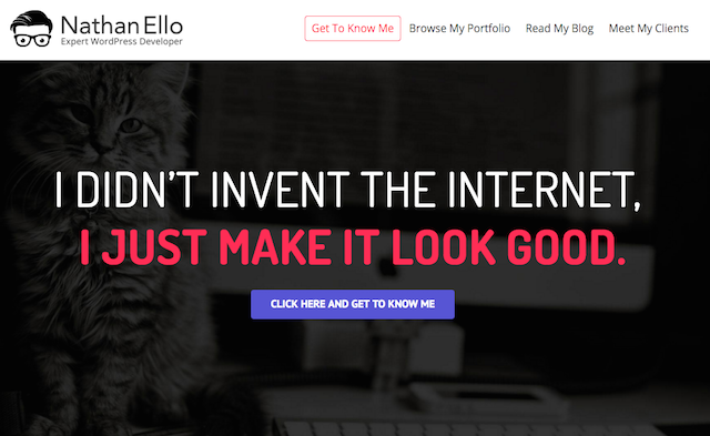 Nathan Ello Freelance Web Developer Website