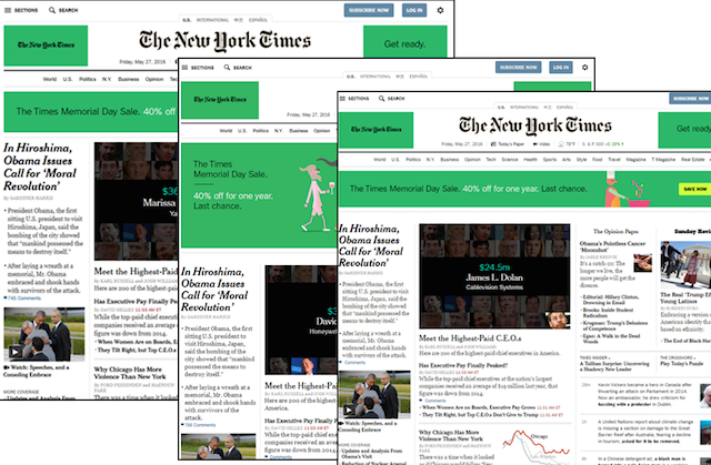 New York Times Multiple Browsers