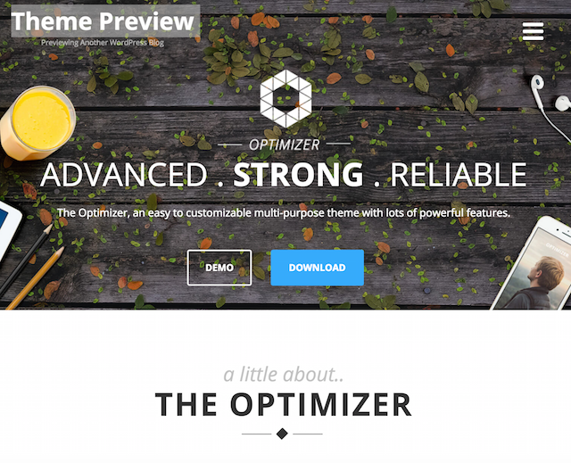 Optimizer WordPress Business Themes