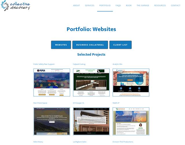 web page design portfolio