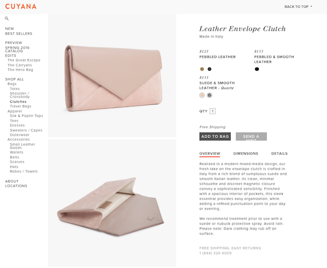 Cuyana Product Page