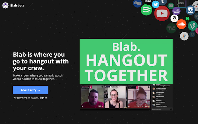 Getting Started With Blab Homepage