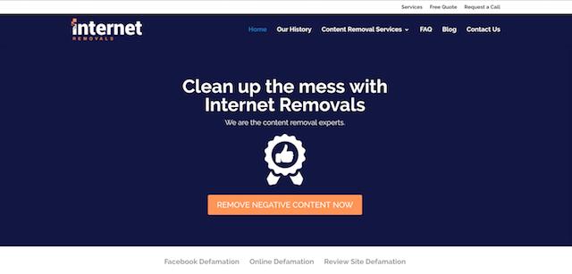 Internet Removals Website