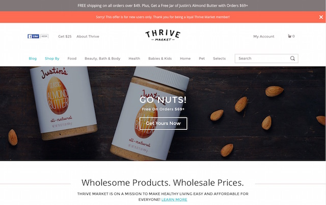 Thrive Ecommerce Website