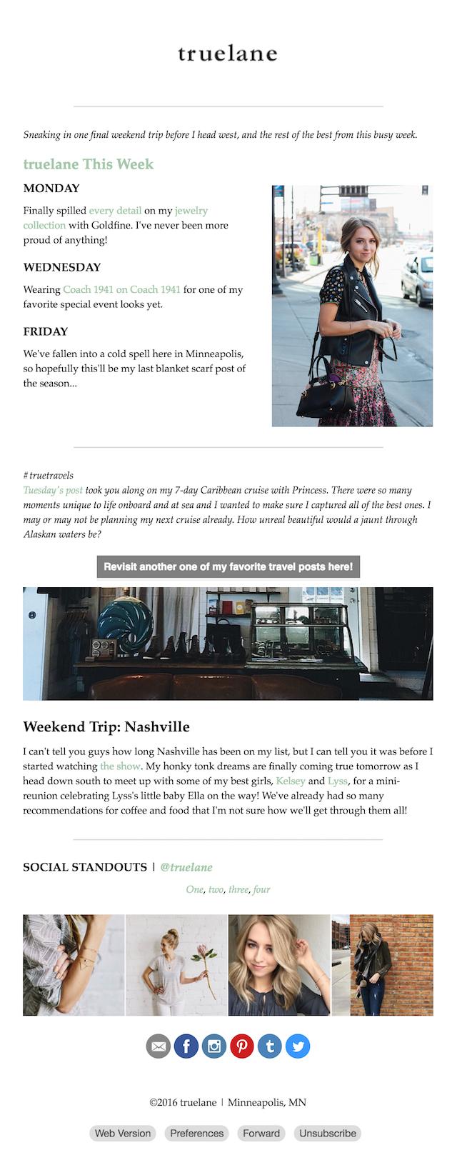 Truelane Weekly Newsletter