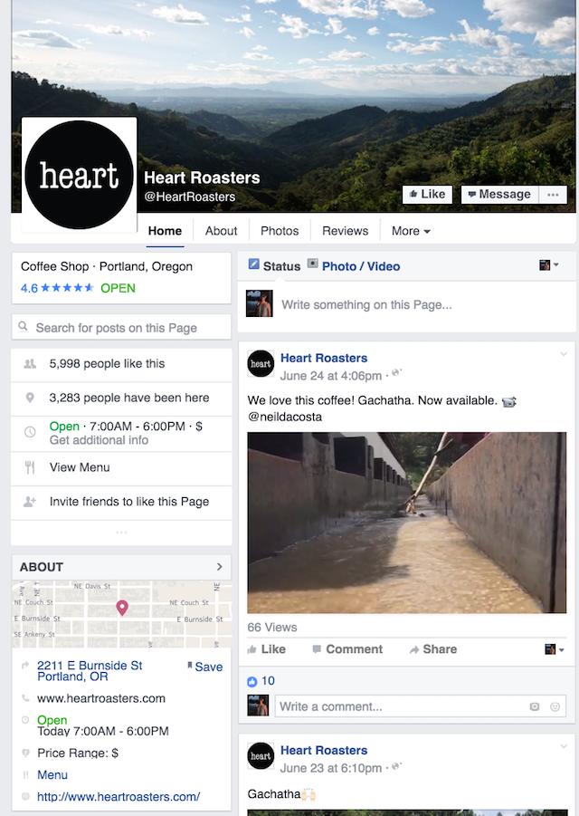 Heart Roasters Facebook