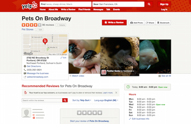 Pets on Broadway Yelp