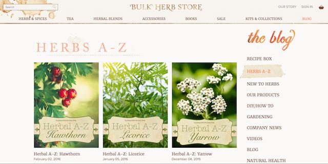 bulk herb store blog