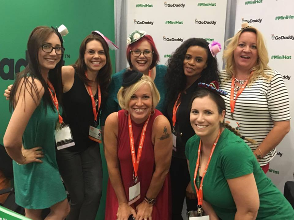 godaddy booth crew blogher16