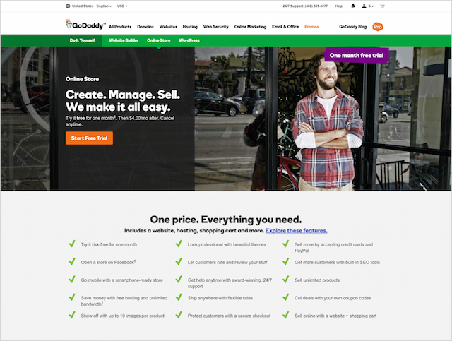 GoDaddy Online Store Free Trial]