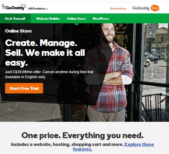 GoDaddy Online Store