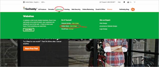 Launch GoDaddy Online Store