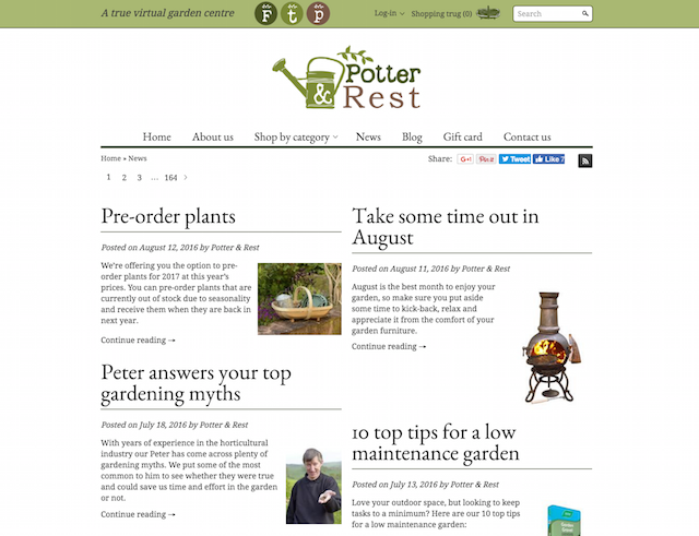 potter and rest retail blog