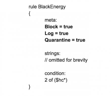 ProcFilter YARA BlackEnergy