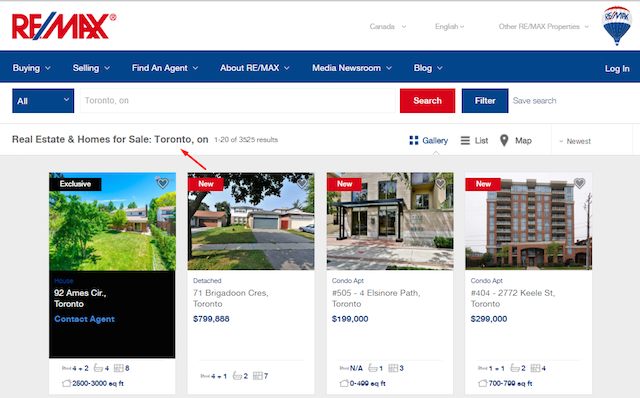 Remax Real Estate Listings