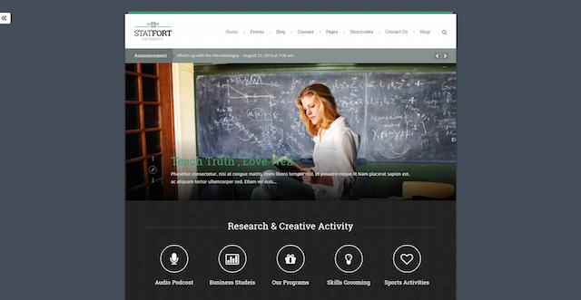 Websites for Teachers Statfort WordPress Theme