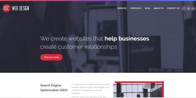 OSC Web Design Homepage