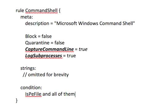 ProcFilter YARA CommandShell