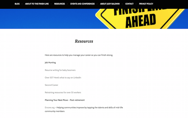 To The Finish Line Resources