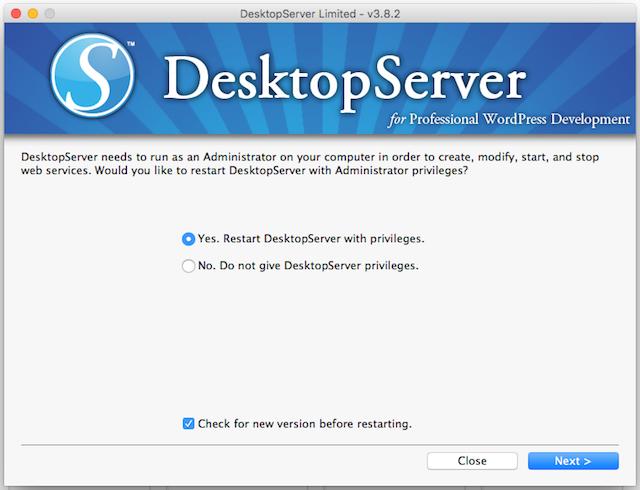 DesktopServer Administrator