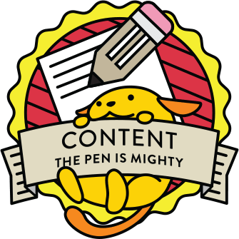 Wapuu collector pin for Content