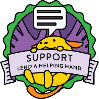 Wapuu collector pin for Support
