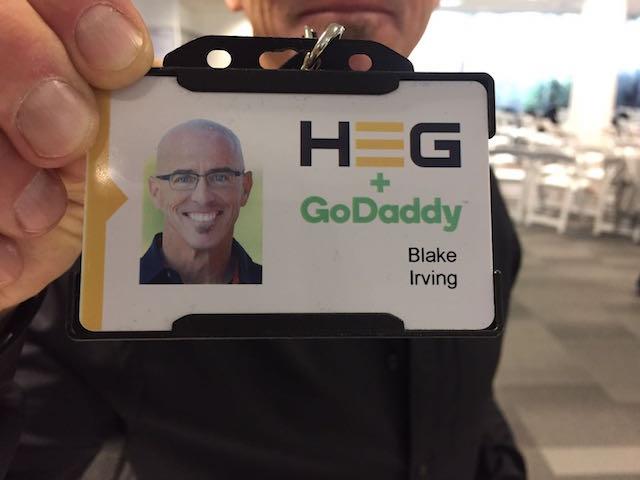 HEG and GoDaddy Blake Irving