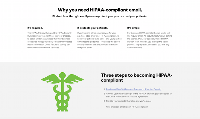 Microsoft Office 365 from GoDaddy Supports HIPAA Compliance