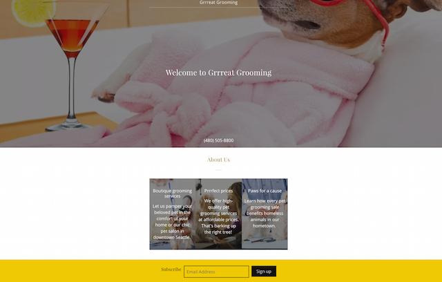 Market Pet Grooming GoCentral Desktop