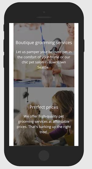 Market Pet Grooming GoCentral Mobile