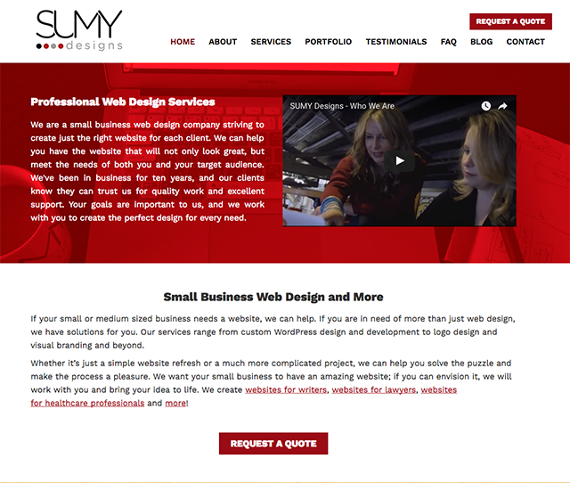 Sumy Designs Website