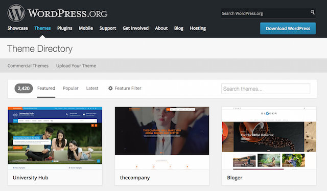 WordPress Themes For Manufacturers Search