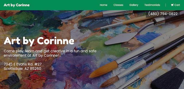 Art By Corinne Homepage