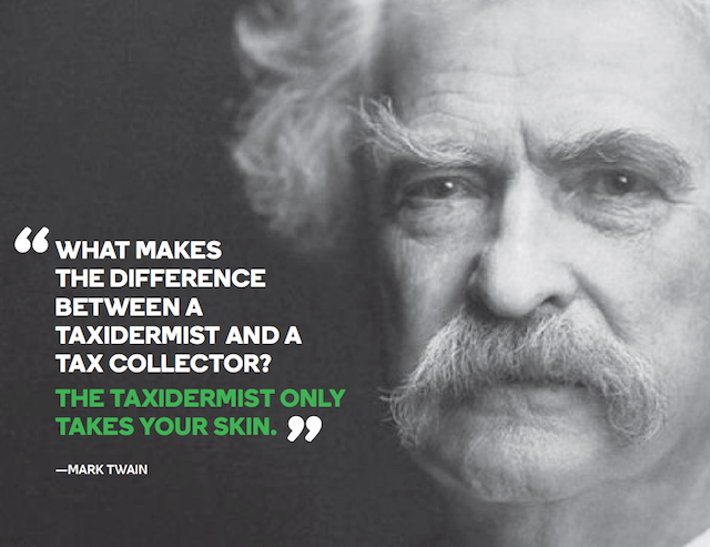 File 2016 Taxes Mark Twain Quote