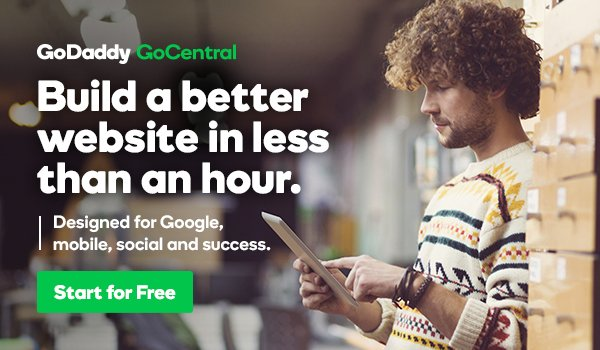 GoDaddy GoCentral Article Content Ad