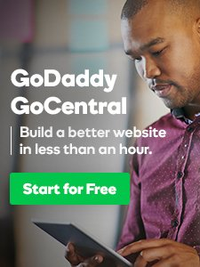 godaddy gocentral sidebar ad