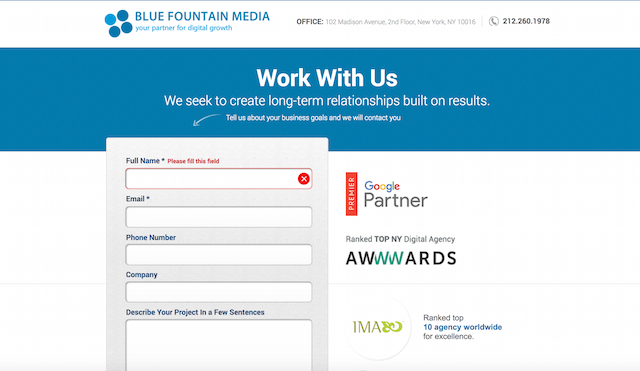 Increase Conversions Badges Blue Fountain Media