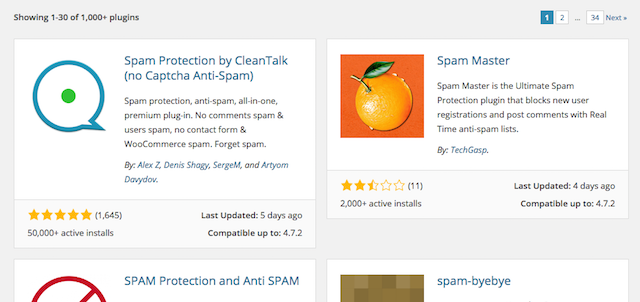 Manage Spam WordPress Plugins