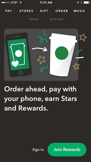 Retail Local Customers Starbucks App