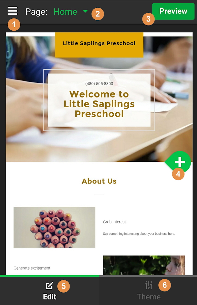 School Website Interface