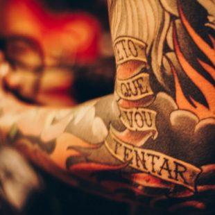 Tattoo Artist Arm