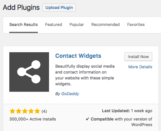 Creating A Contact Widget Add Plugins