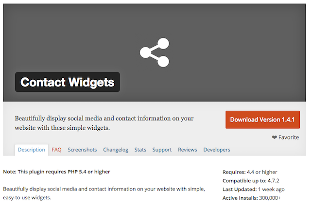Creating A Contact Widget Contact Widgets Plugin