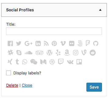 Creating a Contact Widget Social Profiles