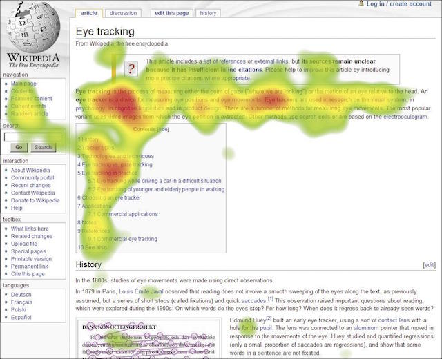 Heat Map Examples Eye Tracking